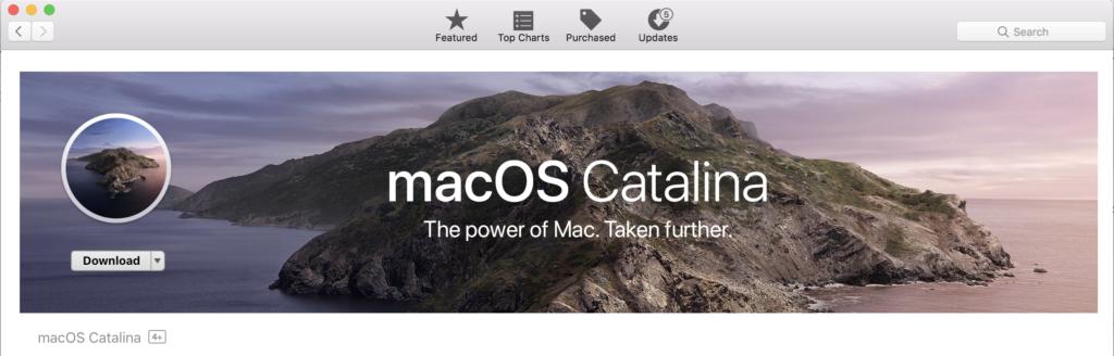 macOS Catalina dari Mac App Store