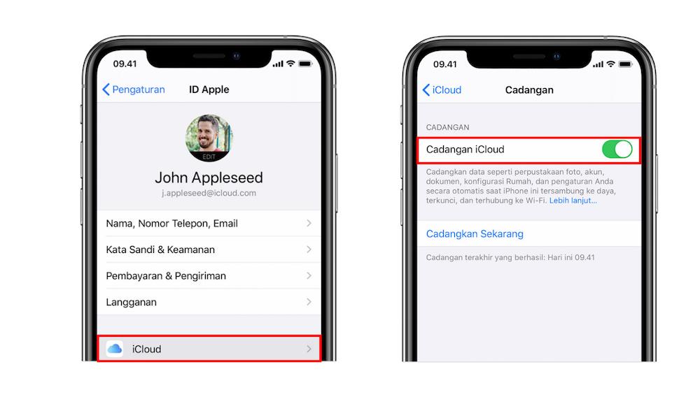 cara backup data iPhone lewat iCloud