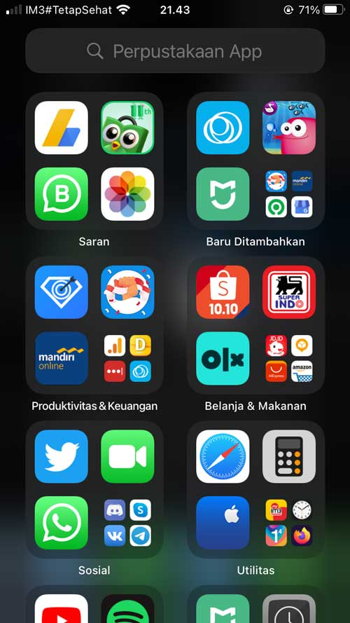 perpustakaan app di iphone 7