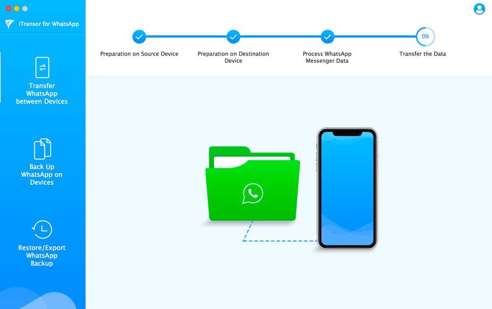 proses memindahkan pesan WhatsApp ke iPhone