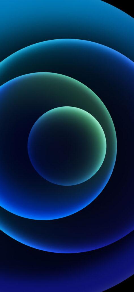 Orbs Blue Dark