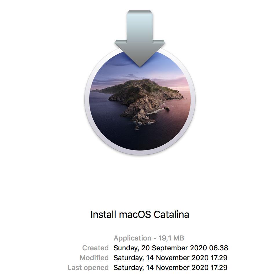 Install macOS Catalina 19.1MB