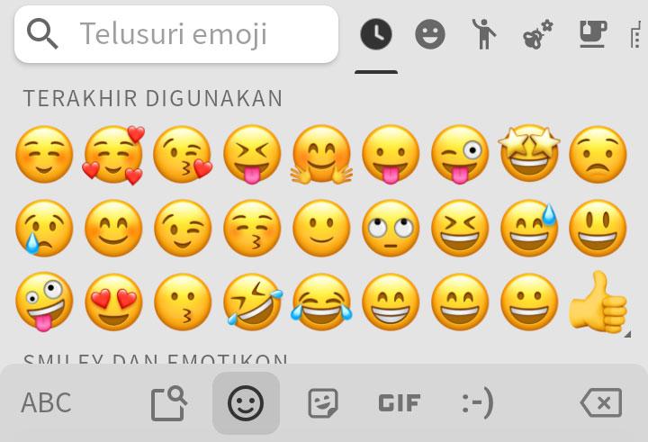 tampilan emoji iPhone di keyboard Android