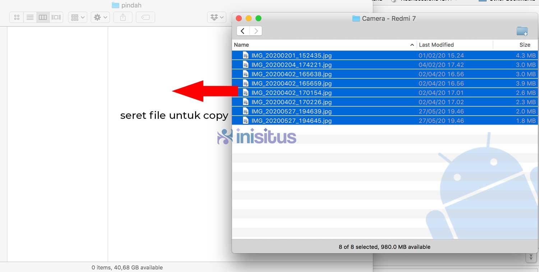 cara copy file dari android ke macbook