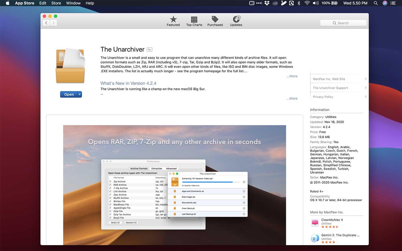 aplikasi terbaik macbook the unarchiver