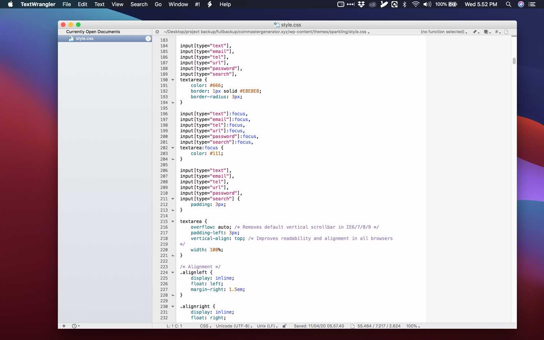 aplikasi terbaik macbook textwrangler