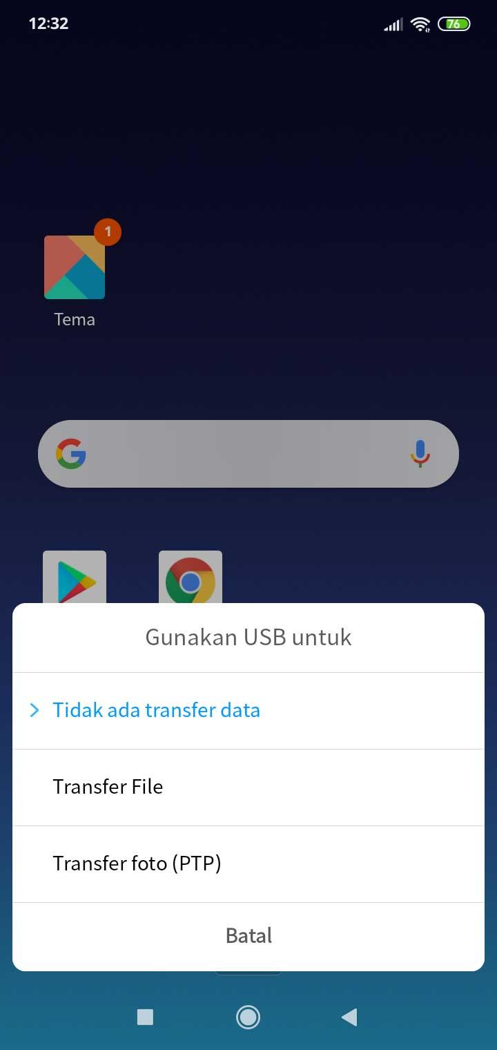langkah transfer file dari android ke macbook