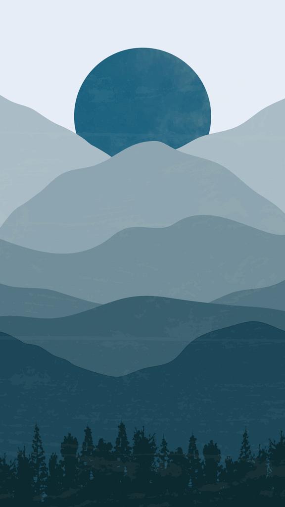 Wallpaper Aestetik untuk Dark Mode iPhone